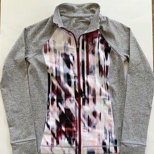 Zella Girls Gray & Purple Zipper Jacket
